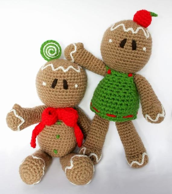 Patterns for Gingerbread Men Inspirational Items Similar to Gingerbread Man Pdf Pattern Amigurumi
