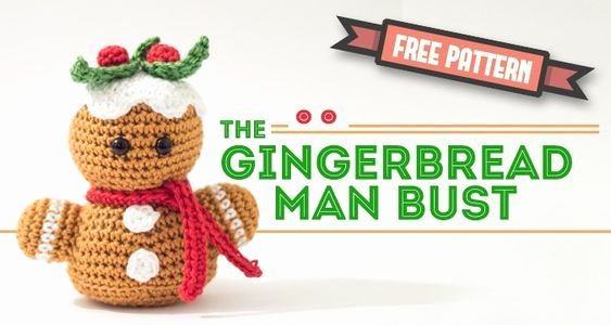 Patterns for Gingerbread Men Lovely Free Amigurumi Pattern – Gingerbread Man Bust
