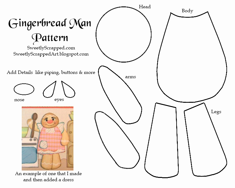 Patterns for Gingerbread Men New Sweetly Scrapped Gingerbread Man Paper Piecing Pattern
