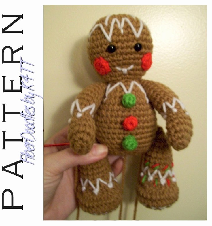 Patterns for Gingerbread Men Unique 37 Best Images About Crocheted Gingerbread On Pinterest