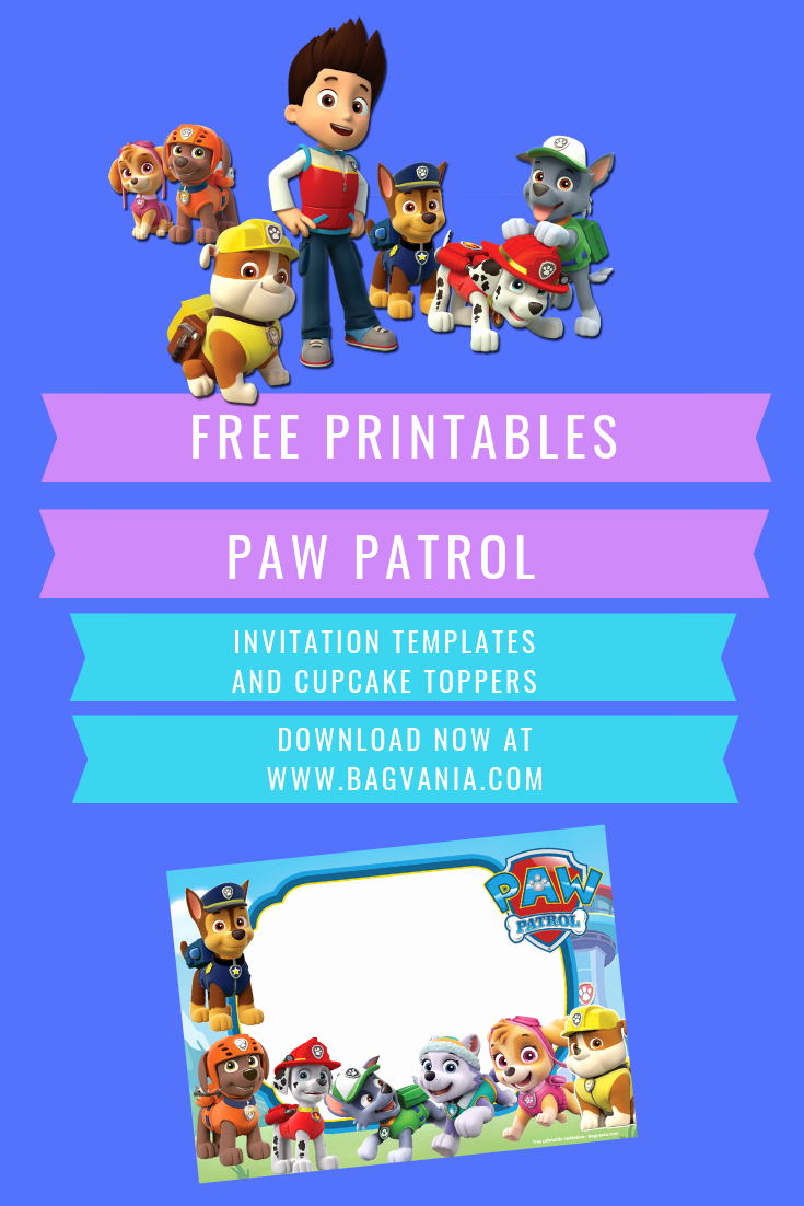 Paw Patrol Invitation Template Free Awesome Free Printable Paw Patrol Invitation Templates Lookout