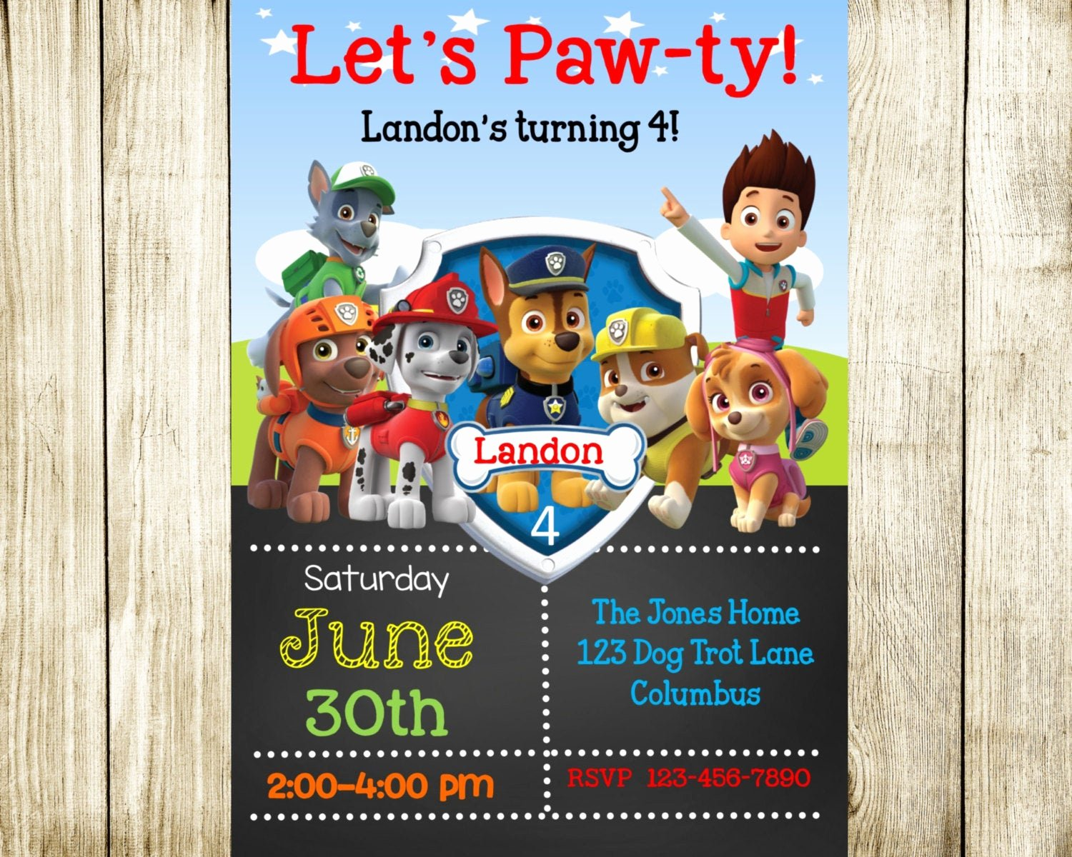 Paw Patrol Invitation Template Free Awesome Paw Patrol Birthday Paw Patrol Invitation by Needmoredesigns