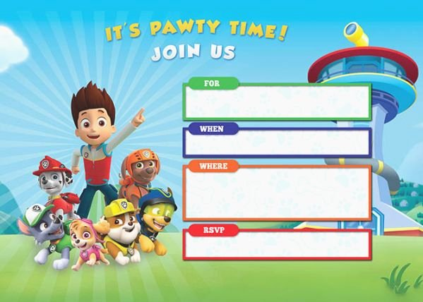 Paw Patrol Invitation Template Free Beautiful 43 Decisive Paw Patrol Printable Invitations