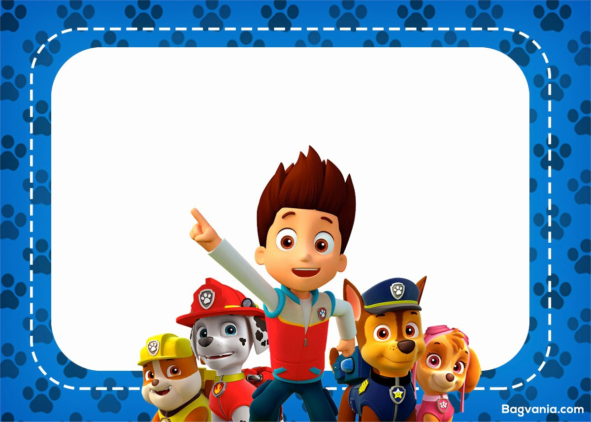 Paw Patrol Invitation Template Free Best Of Free Paw Patrol Birthday Invitations – Free Printable