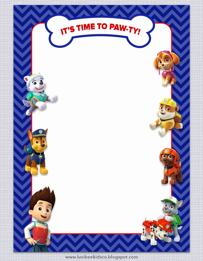 Paw Patrol Invitation Template Free Best Of Paw Patrol Birthday Invitations Free Printables