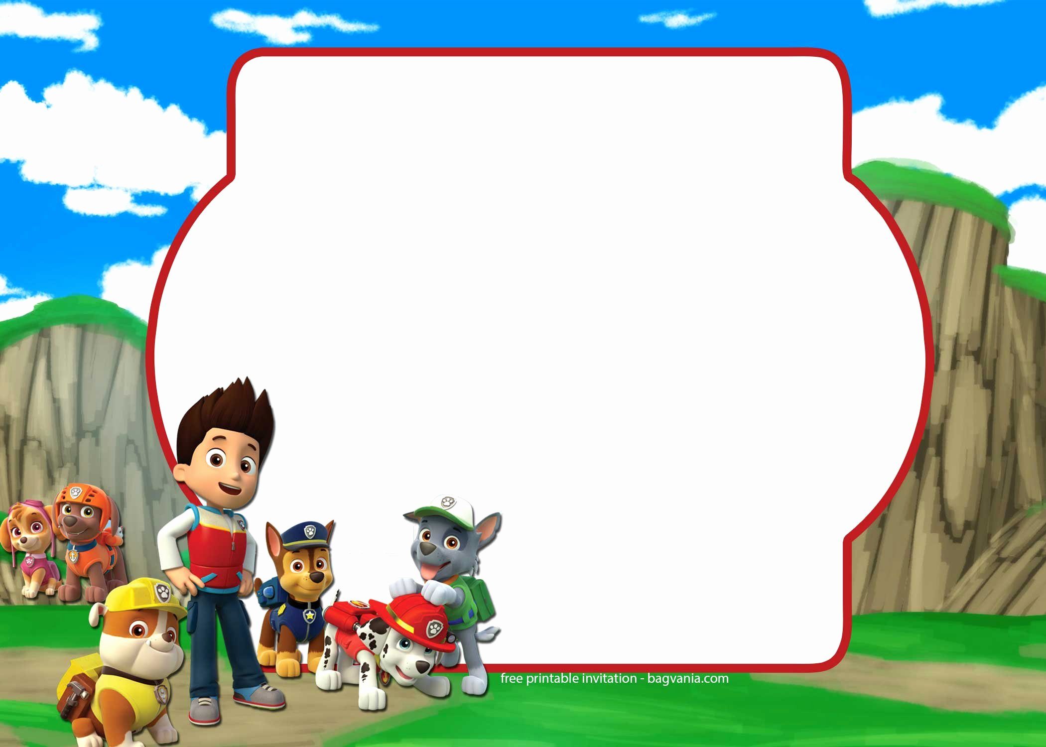 Paw Patrol Invitation Template Free Elegant Free Paw Patrol Invitation Template – Plete Collection