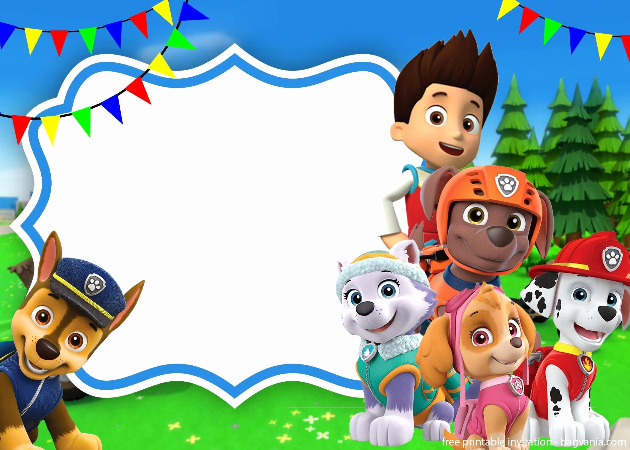 Paw Patrol Invitation Template Free Elegant Paw Patrol Skye Invitation Template for Your Daughter S