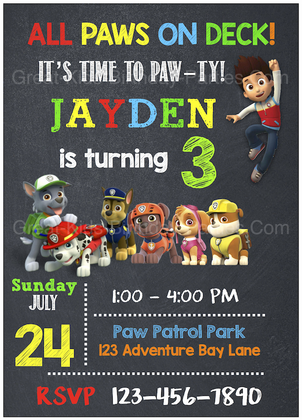 Paw Patrol Invitation Template Free Fresh Paw Patrol Birthday