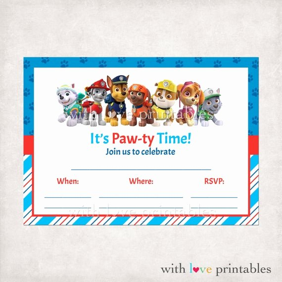 Paw Patrol Invitation Template Free Fresh Printable Paw Patrol Fill In Blank Birthday by