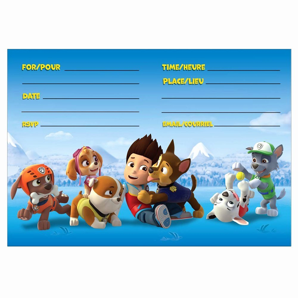 Paw Patrol Invitation Template Free Inspirational 8 Pawsome Paw Patrol Birthday Invitations