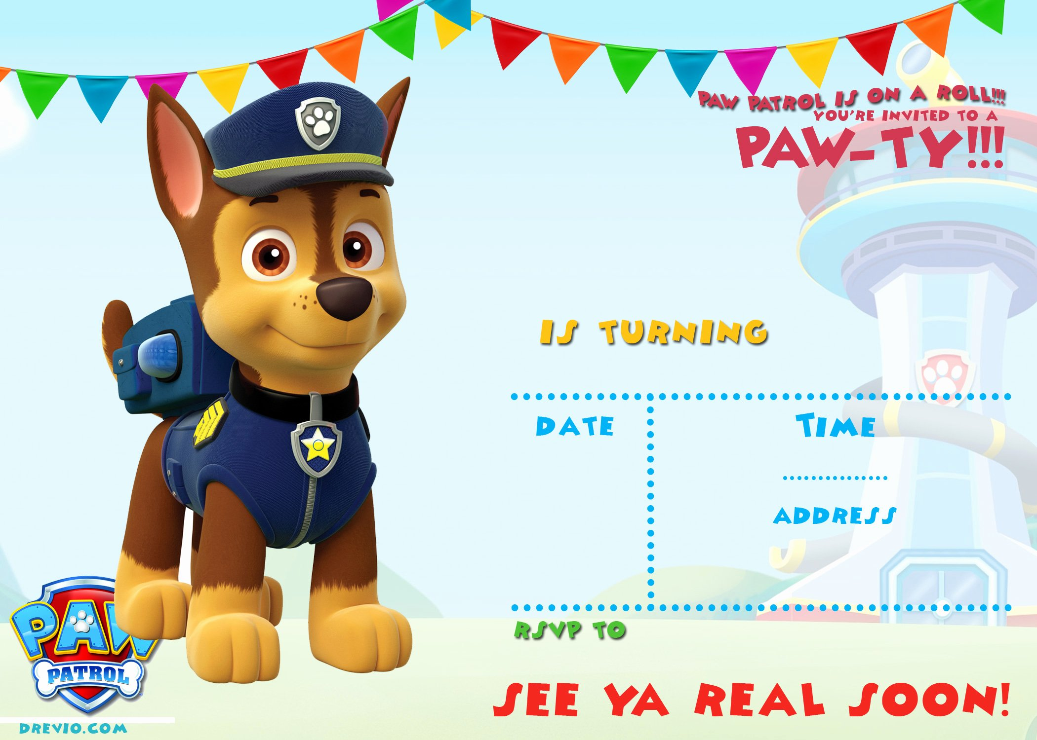 Paw Patrol Invitation Template Free Inspirational Free Printable Paw Patrol Birthday Invitation Ideas
