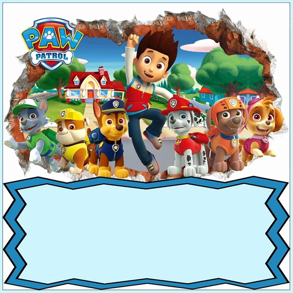 Paw Patrol Invitation Template Free Inspirational Paw Patrol Invitation Card Design
