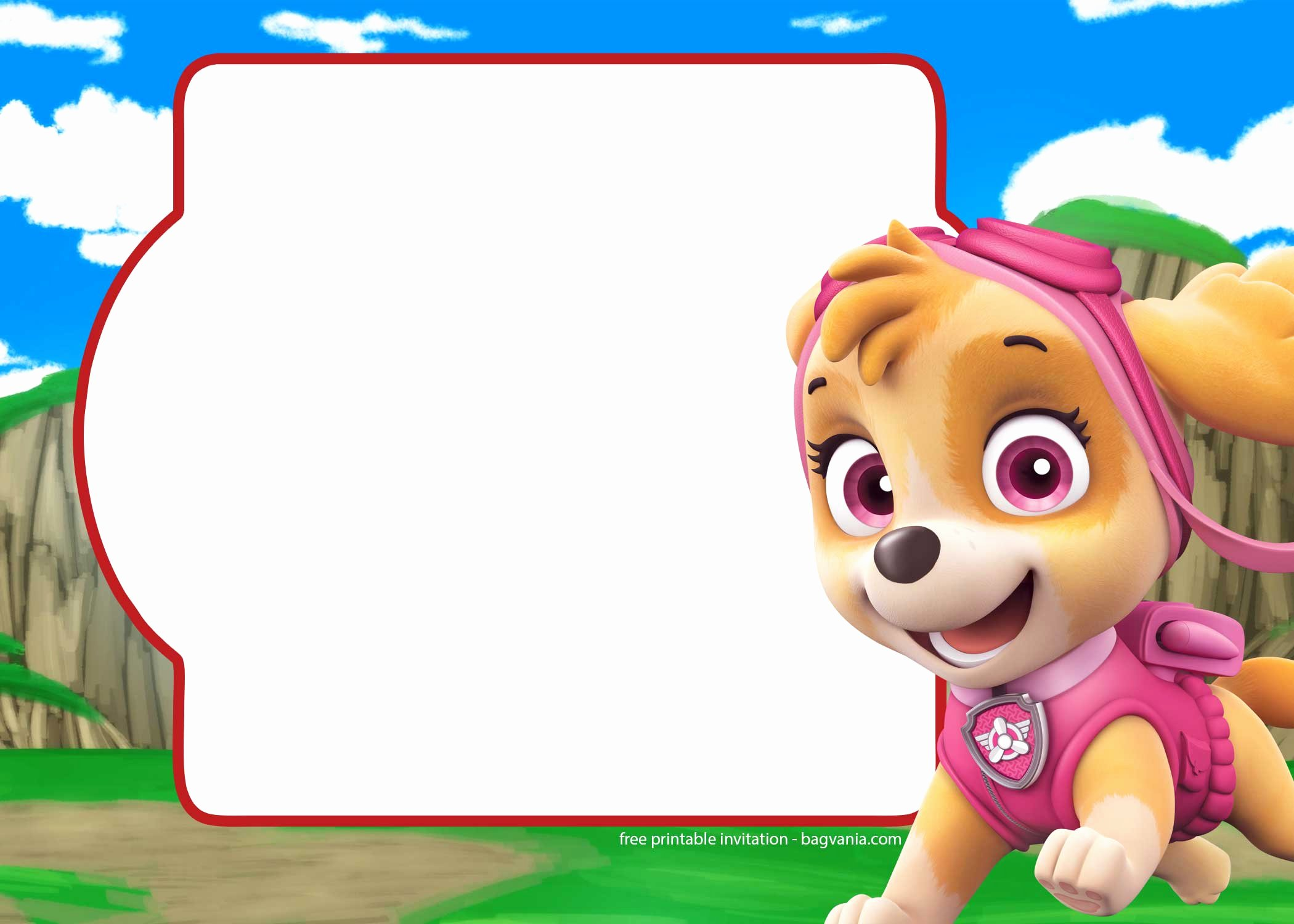 Paw Patrol Invitation Template Free Luxury Free Paw Patrol Invitation Template – Plete Collection
