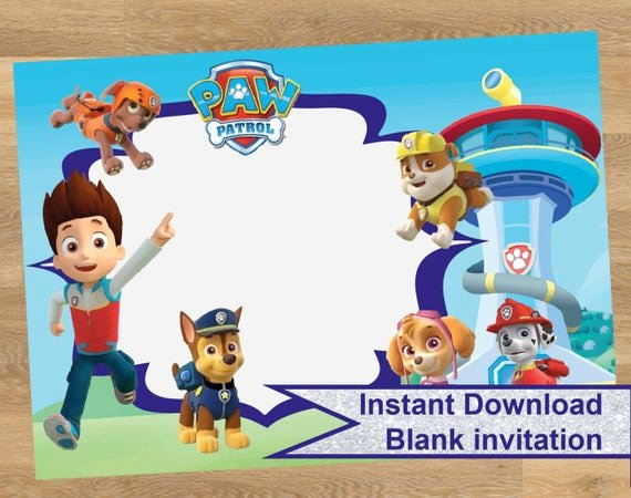 Paw Patrol Invitation Template Free Luxury Paw Patrol Invitation Paw Patrol Birthday by Designmadedesigns