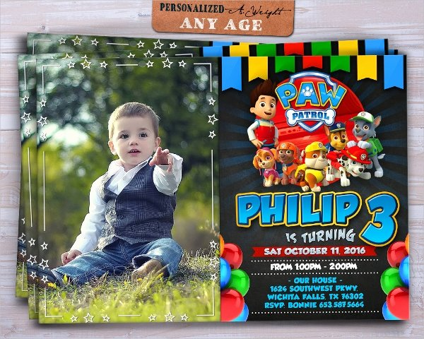 Paw Patrol Invitation Template Free New 40 Invitation Templates Free Psd Vector Eps Ai
