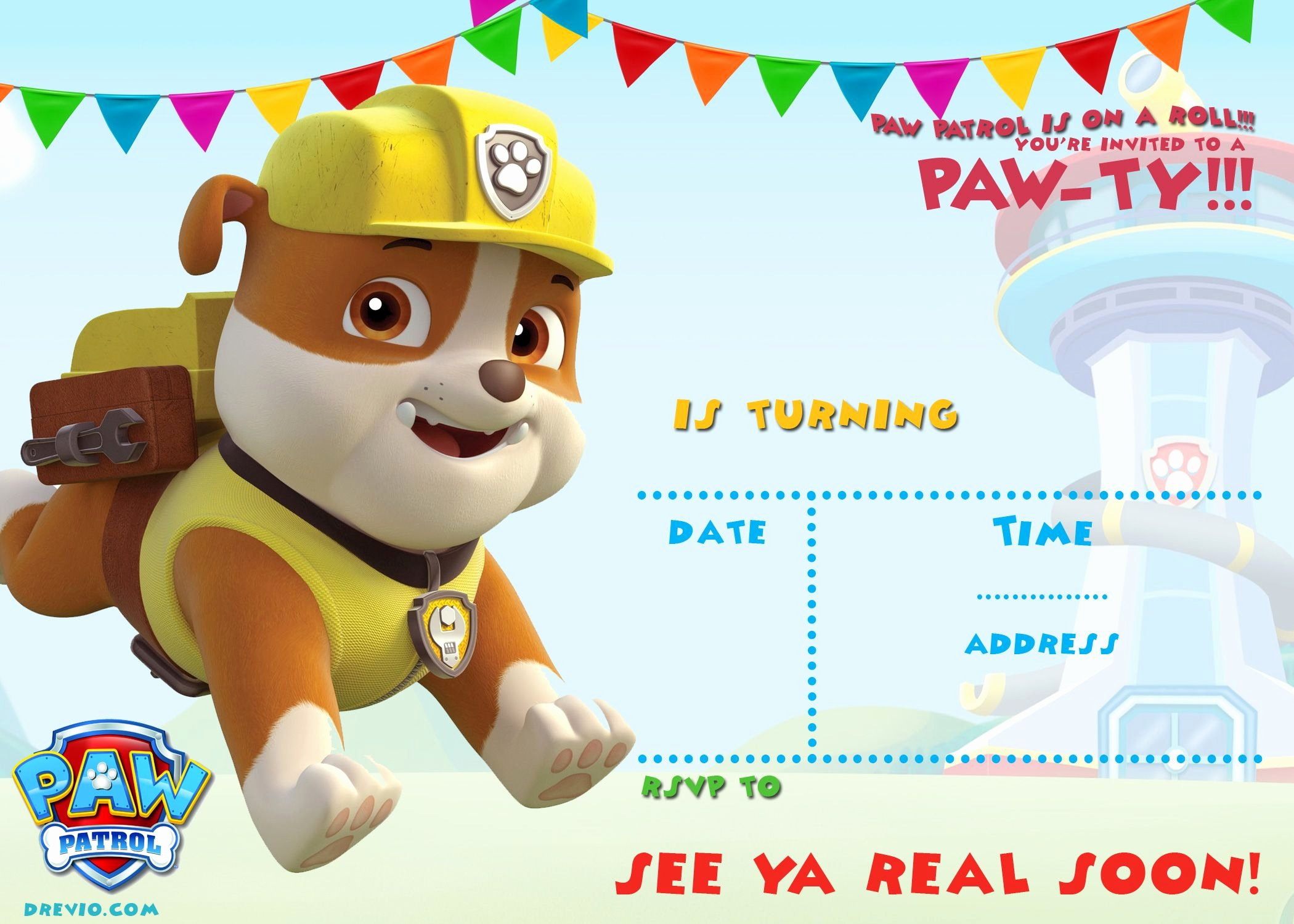 Paw Patrol Invitation Template Free Unique Free Printable Paw Patrol Invitation Template All