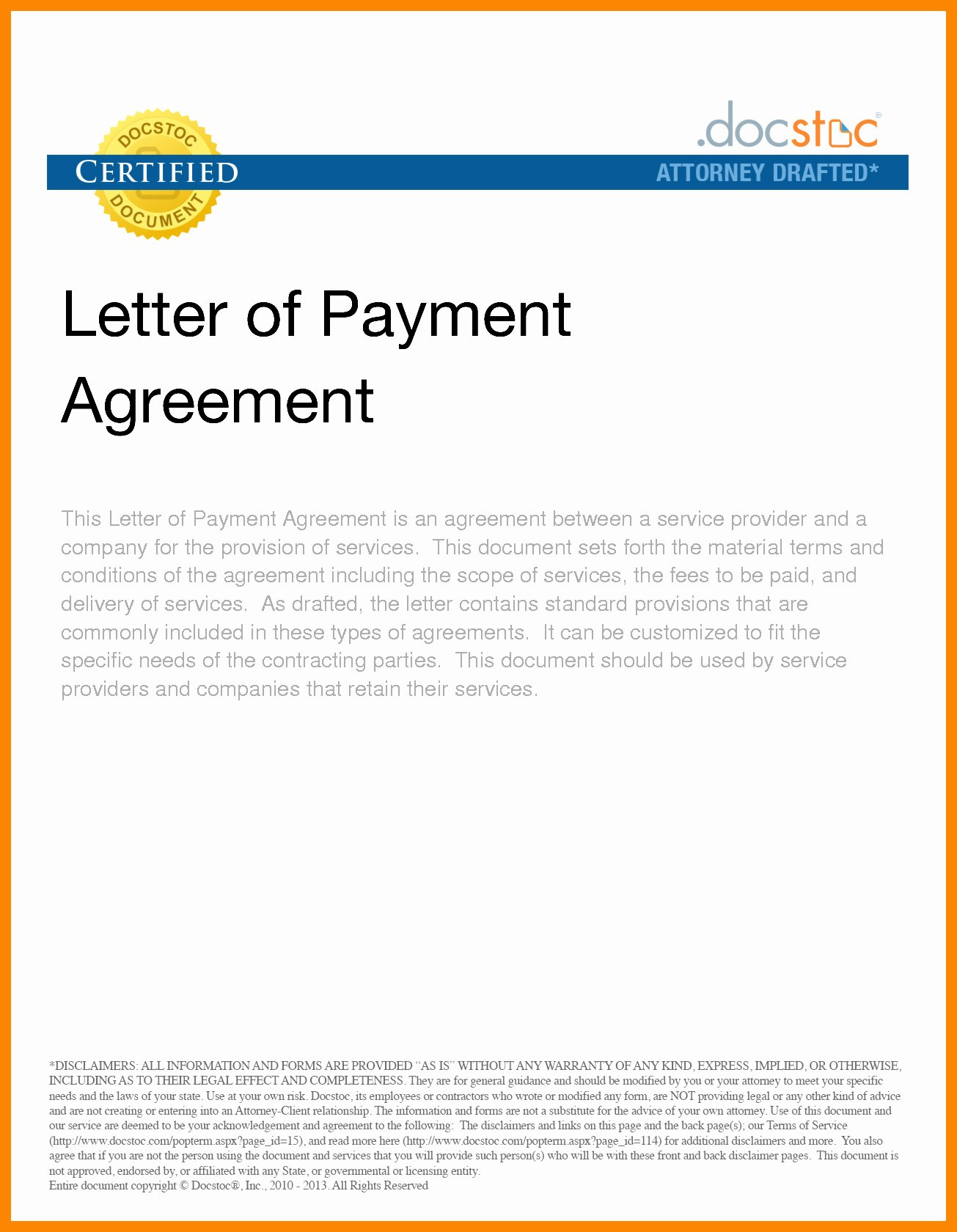 Pay Off Letter Sample Awesome Payment Agreement Letter