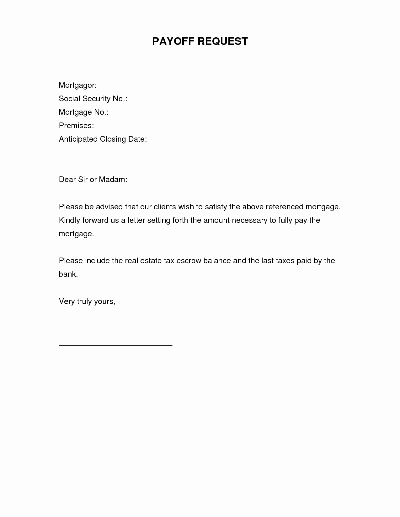 Pay Off Letter Sample New Best S Of Written Request Letter Sample Request
