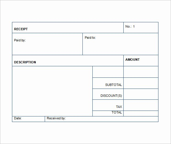 Payment Receipt format In Word Beautiful Sales Receipt Template 22 Free Word Excel Pdf format