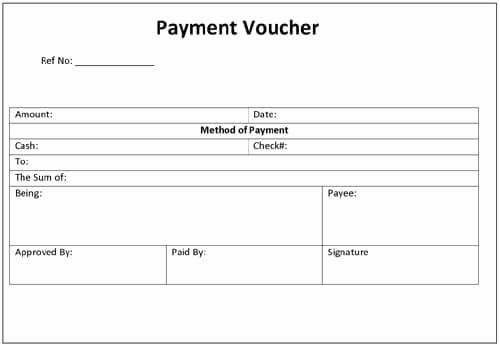Payment Receipt format In Word Best Of Payment Voucher Template Word