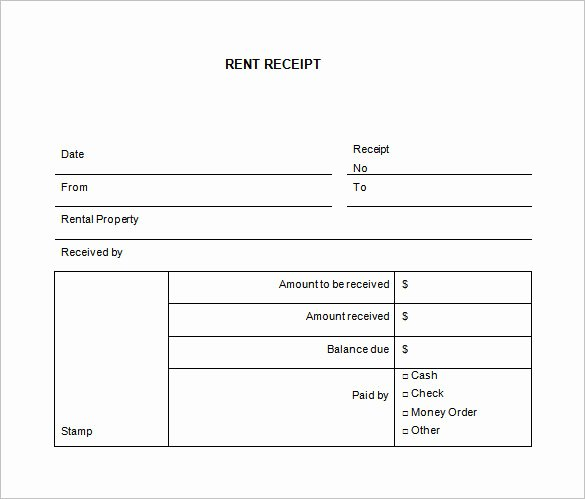 Payment Receipt format In Word Elegant 28 Rental Receipt Templates Doc Pdf