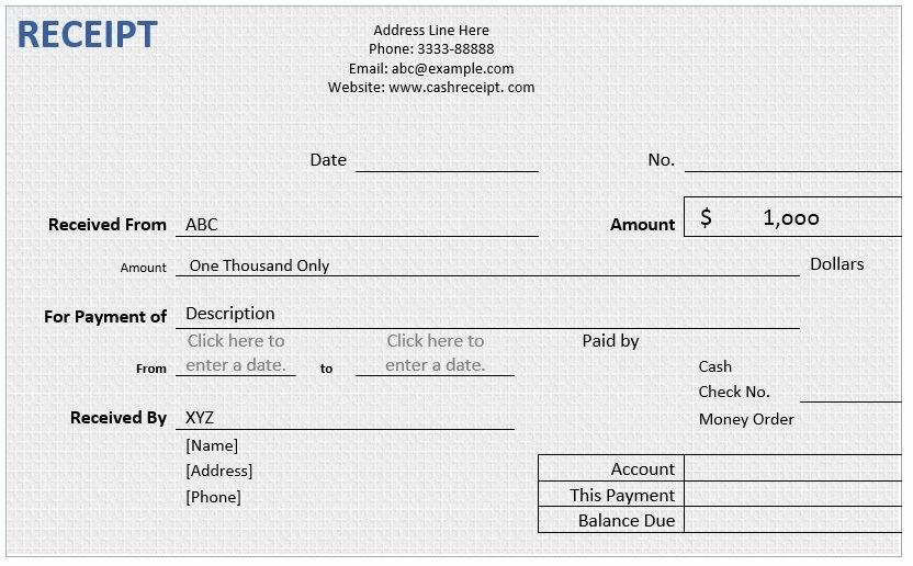 Payment Receipt format In Word Elegant Cash Receipt – Word Template – Word Templates for Free
