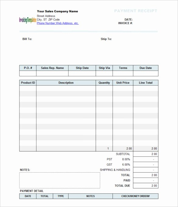 Payment Receipt format In Word Luxury Payment Receipt Template 10 Free Word Excel Template