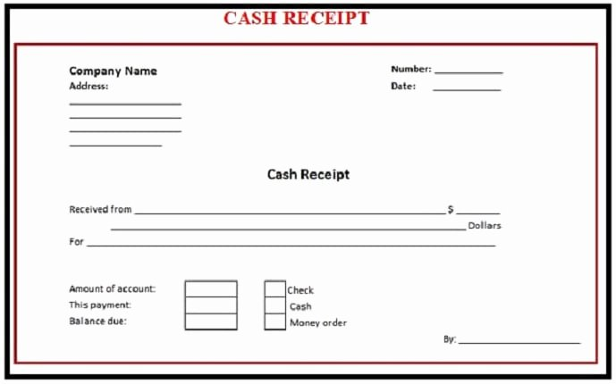 Payment Receipt format In Word Unique 6 Free Cash Receipt Templates Excel Pdf formats
