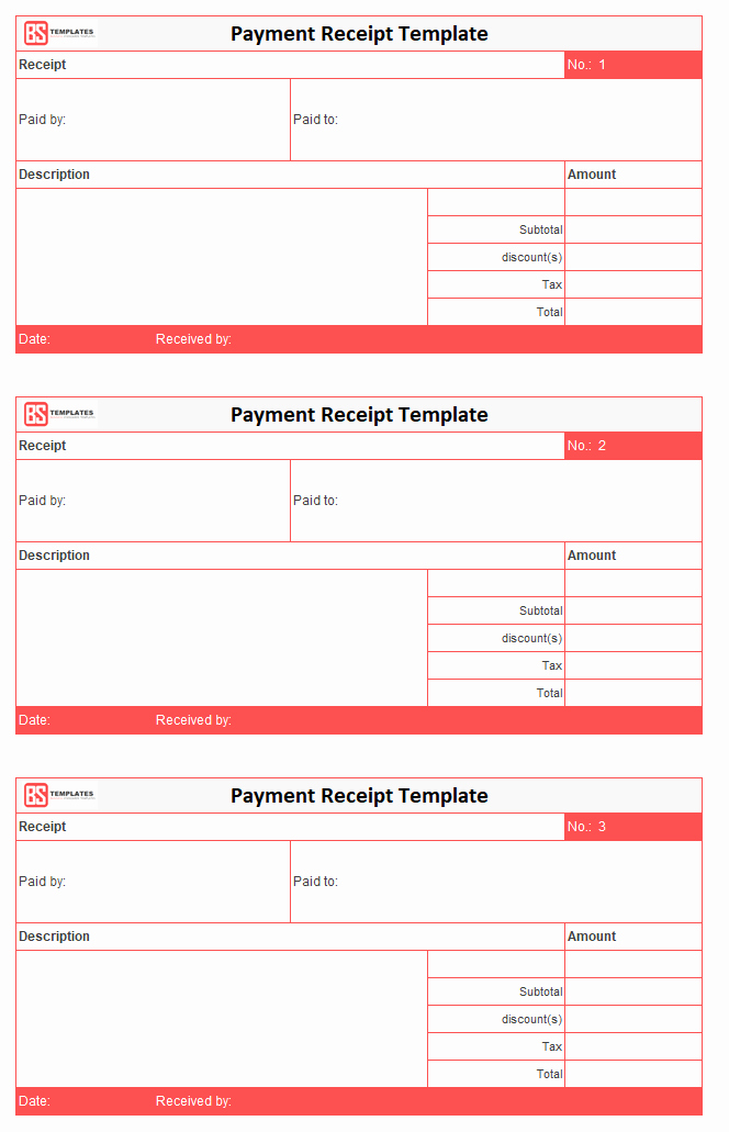 Payment Receipt format In Word Unique Payment Receipt Template – Free Simple Word Excel