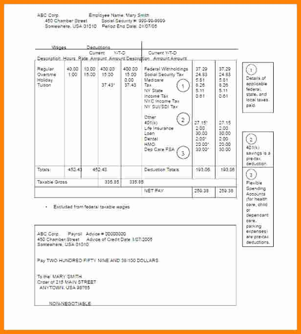 Pdf Pay Stub Template Free Awesome 5 Pay Stub Template Pdf Free