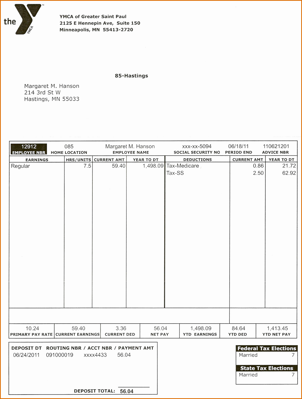 Pdf Pay Stub Template Free Lovely 7 Pay Stub Template Pdf