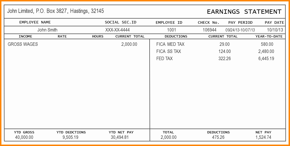 Pdf Pay Stub Template Free Luxury 9 Free Editable Pay Stub Template