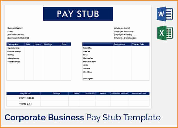 Pdf Pay Stub Template Free New 5 Pay Stub Template Word