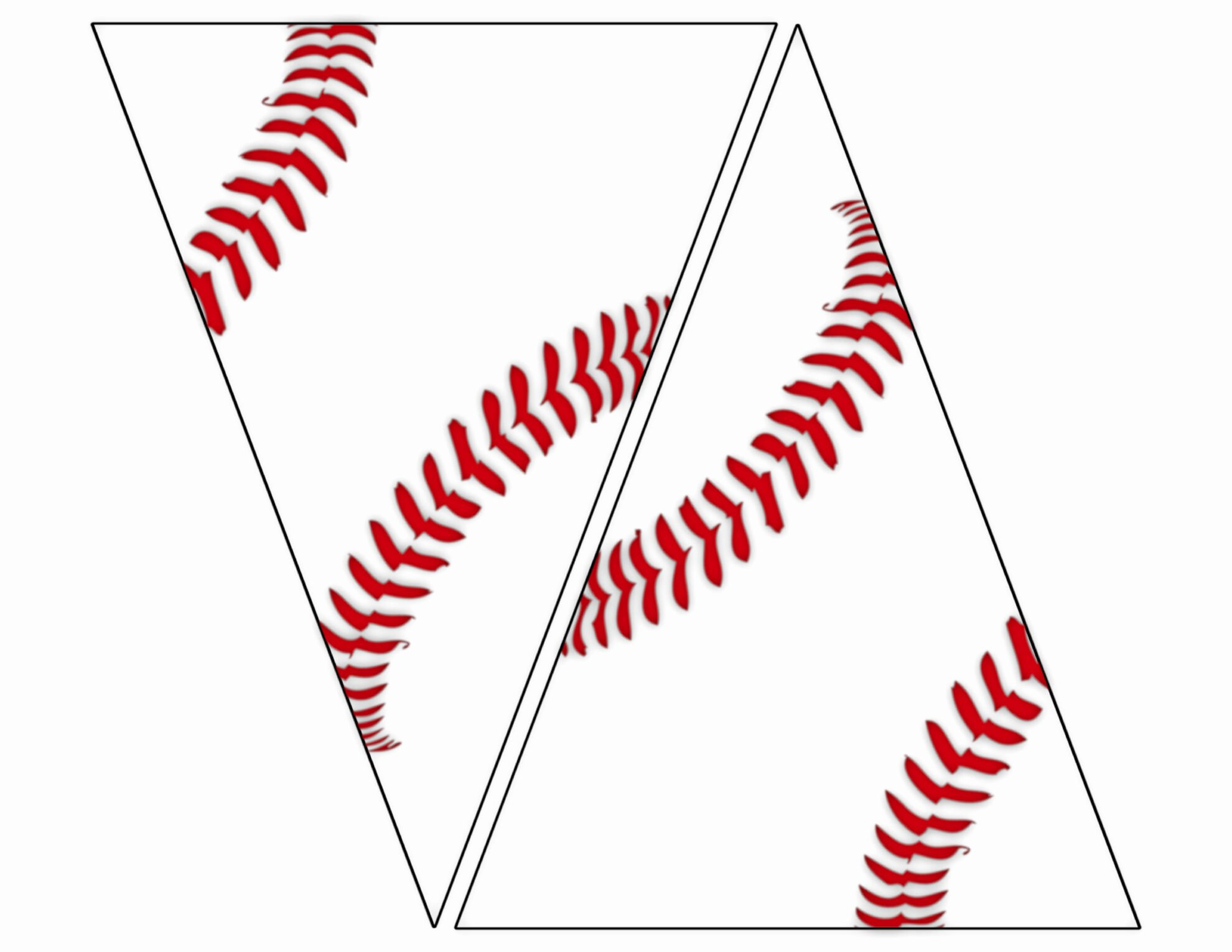 Pennant Banner Template Free Inspirational Free Printable Baseball Banner Baseball Party Decorations