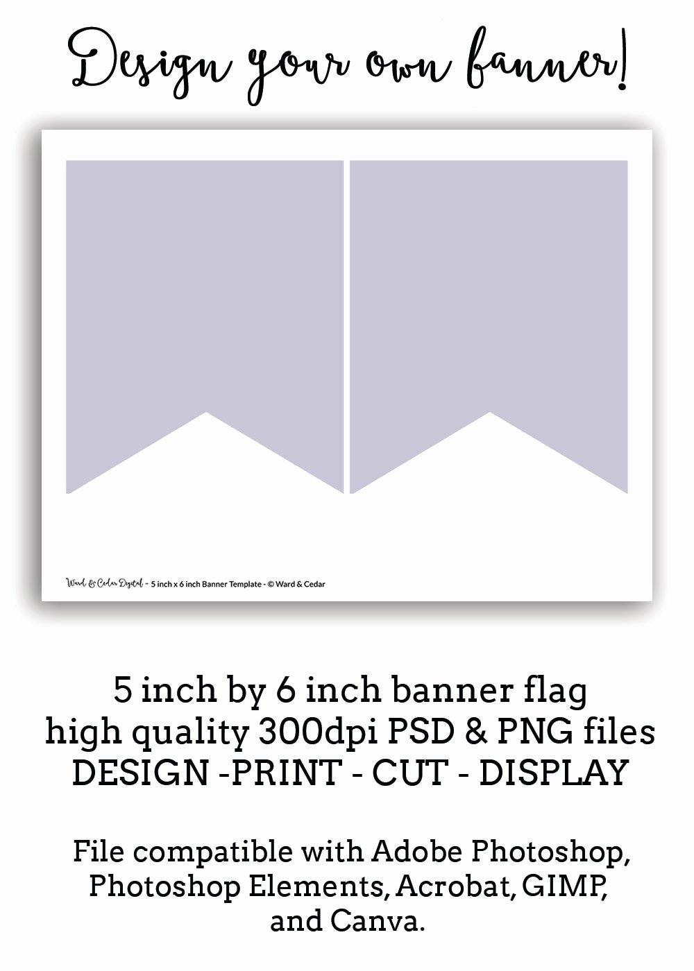 Pennant Banner Template Free Lovely 5 X 6 Bunting Flag Banner Template Pennant Instant