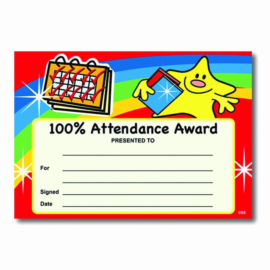Perfect attendance Certificate Printable Elegant Buy attendance Certificates