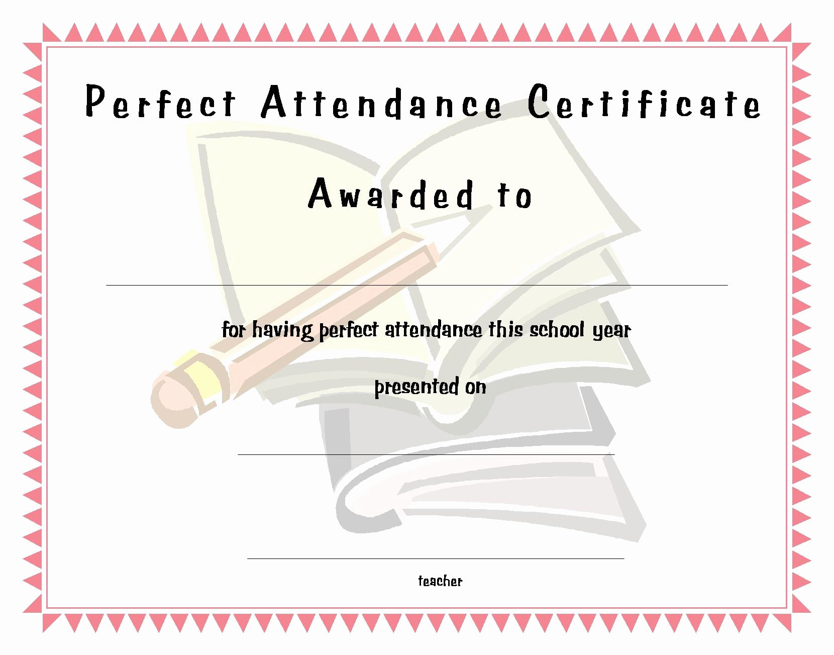 Perfect attendance Certificate Printable Lovely Perfect attendance Funny Quotes Quotesgram