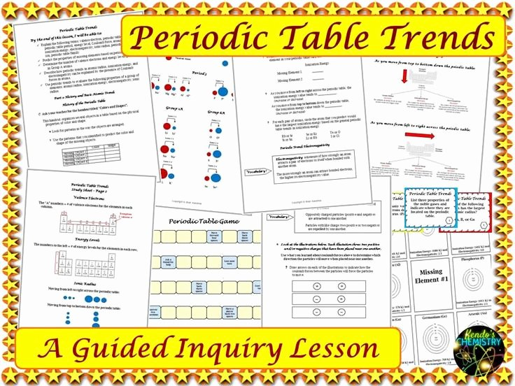 Periodic Table Practice Worksheet Elegant Periodic Table Trends Practice Worksheet Project Pdf
