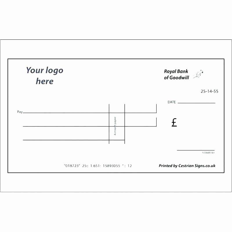 Personal Check Template Unique Big Cheque Template