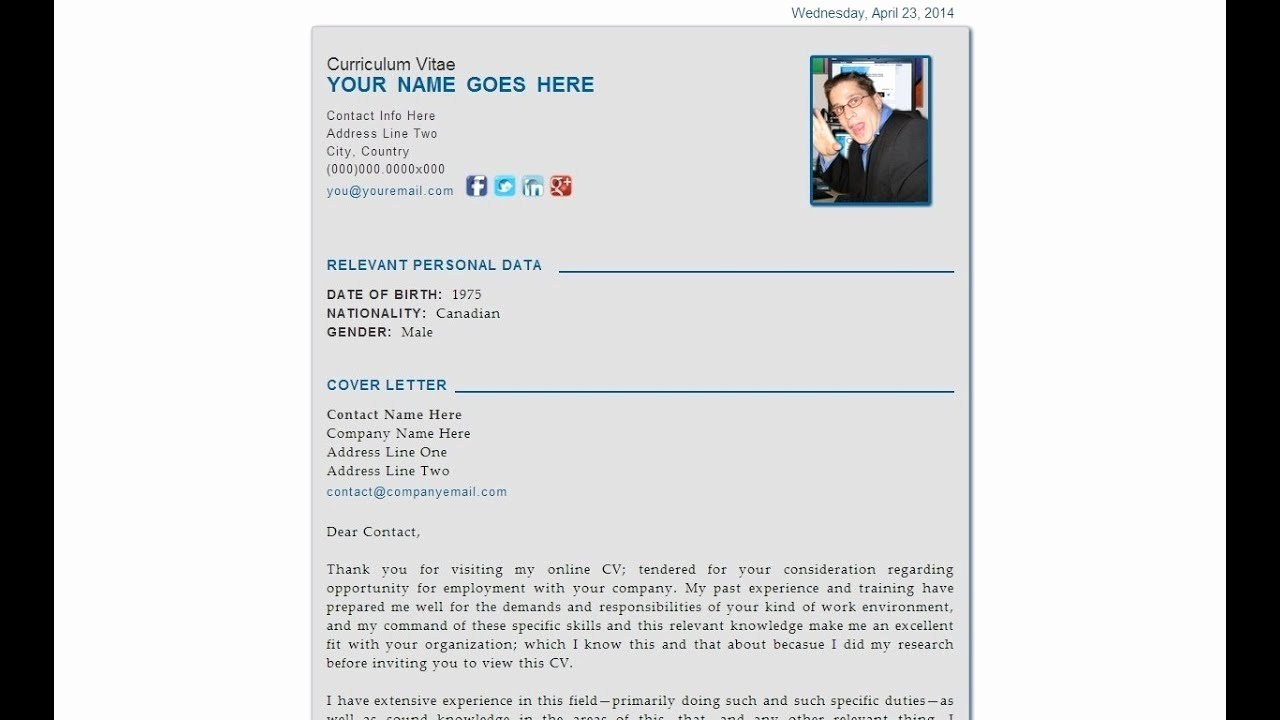 Personal Data Sheet forms Fresh the Curriculum Vitae Personal Data Sheet HTML5 Webpage