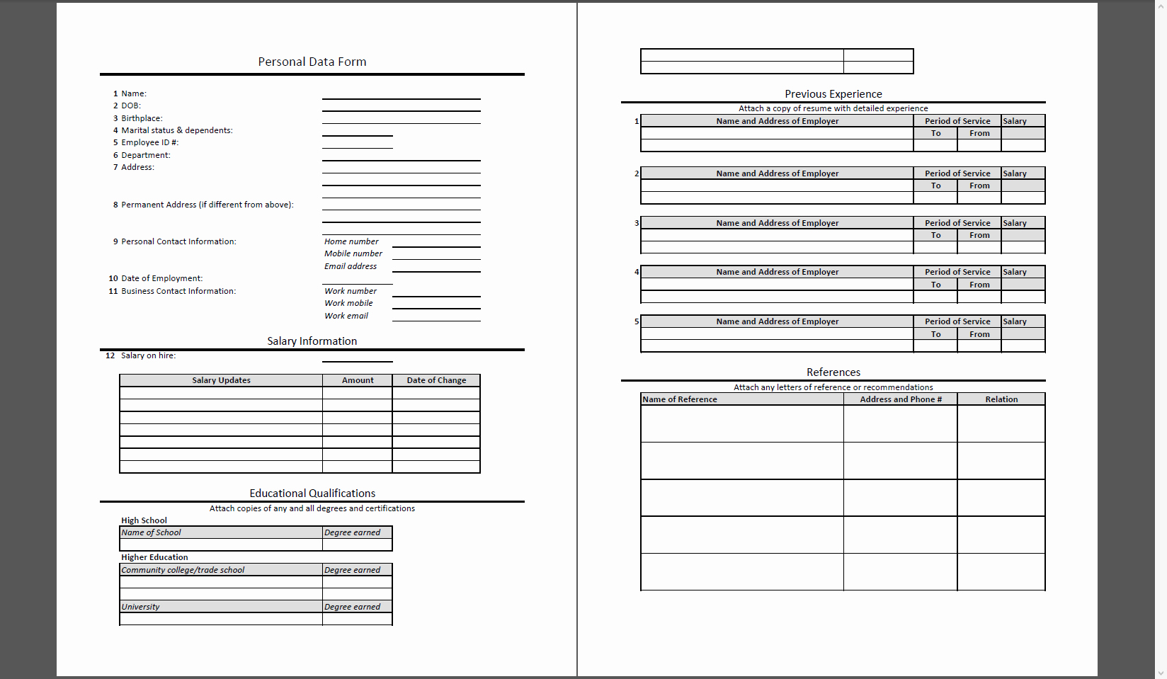Personal Data Sheet forms Lovely Mis Report formats A Quick Review On Writing Reports for Mis