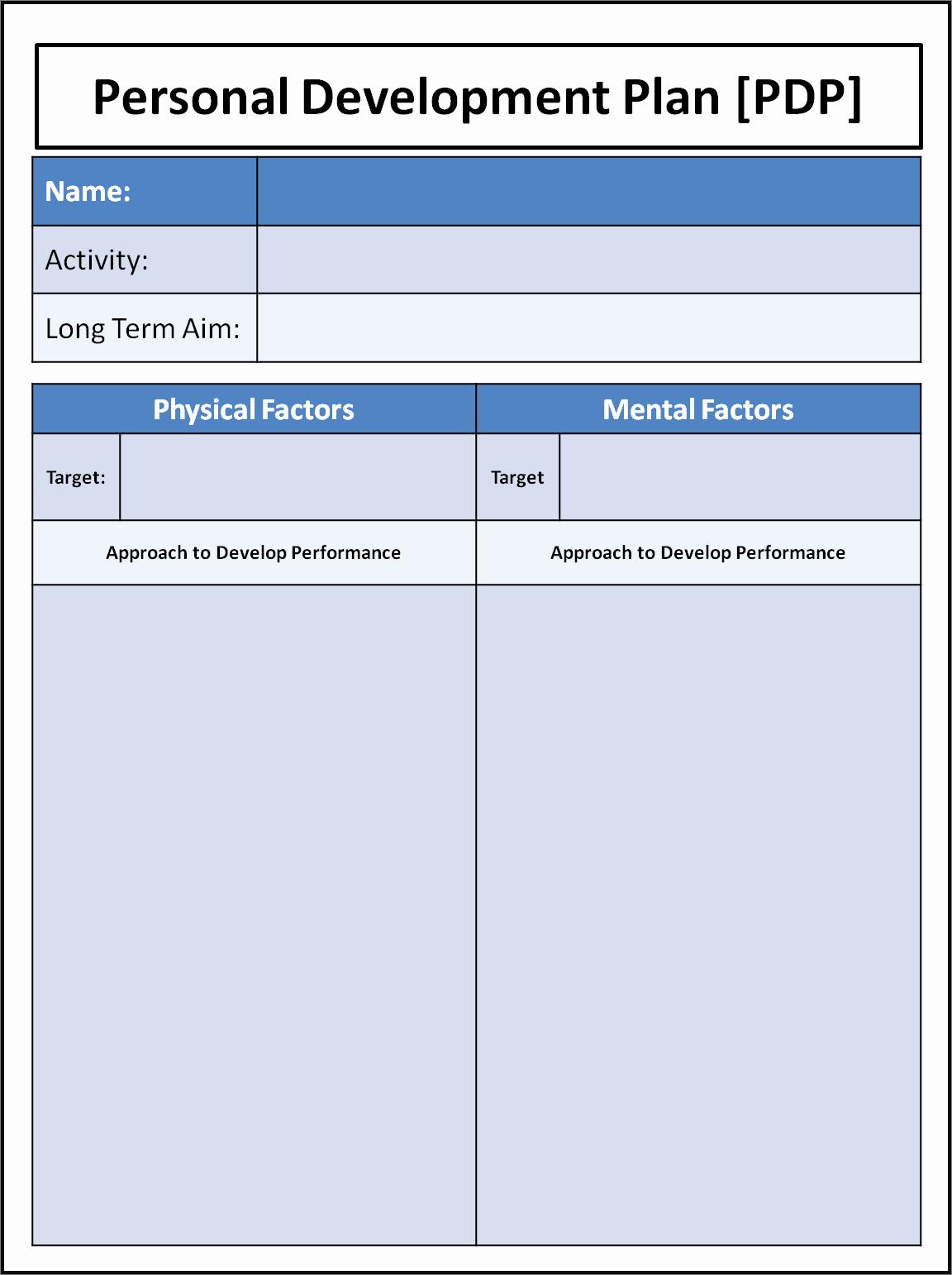 Personal Development Plan Sample Beautiful Personal Development Plan – Higher Pe