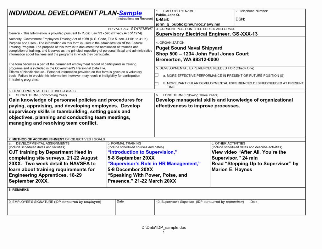 Personal Development Plan Sample Elegant Self Development Plan at Work Personal Template Word