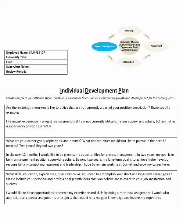 Personal Development Plan Sample Inspirational Free 18 Individual Development Plan Examples & Samples In