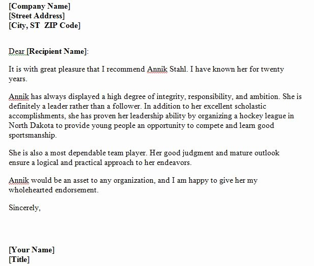 Personal Letters Of Recommendation Best Of 40 Awesome Personal Character Reference Letter