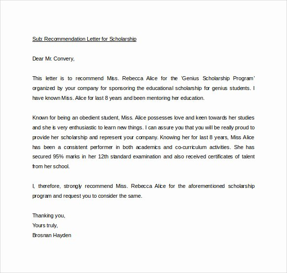 Personal Letters Of Recommendation Samples Fresh Sample Personal Letter Of Re Mendation 16 Download