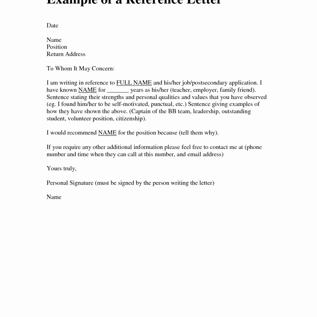 Personal Reference Letter Samples New 14 15 Sample Personal References