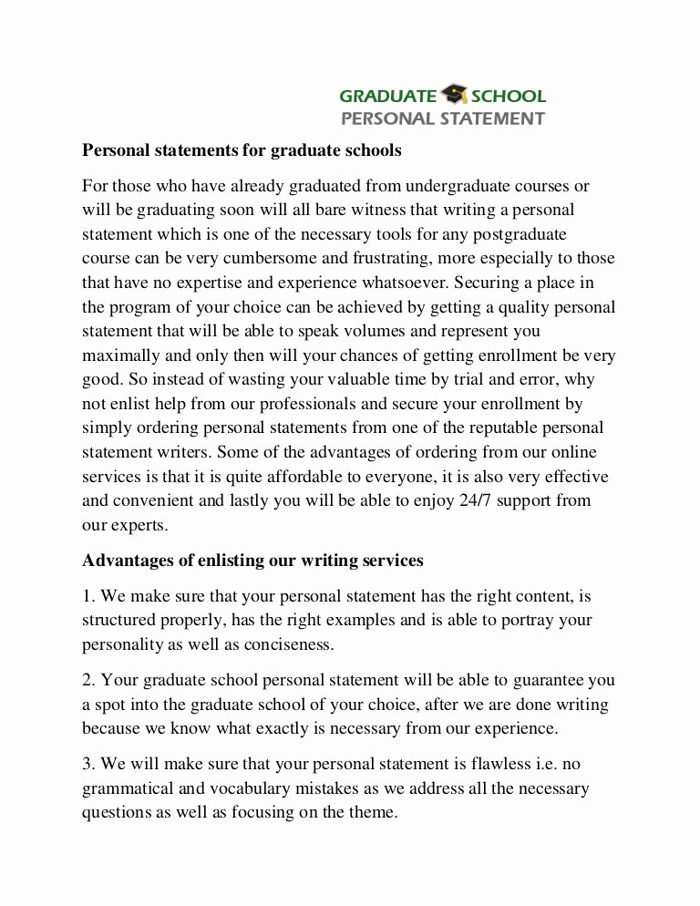 Personal Statement for School Lovely Professional Help with Graduate School Personal Statement