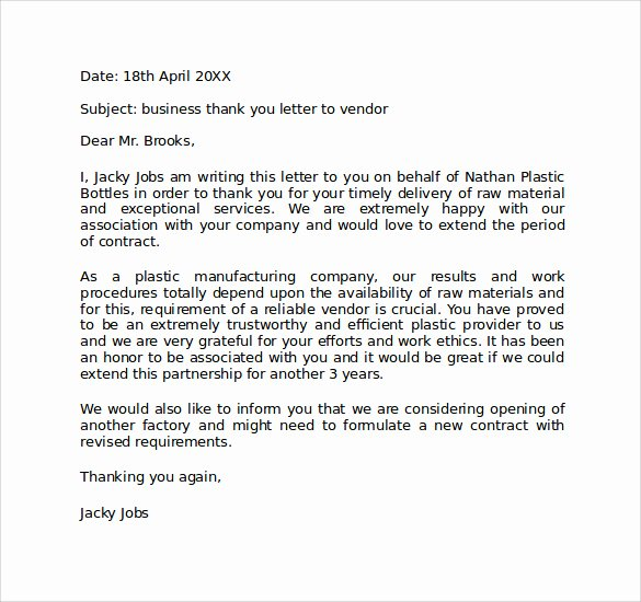 Personal Thank You Note Sample Best Of Sample Personal Business Letter format 6 Documents In