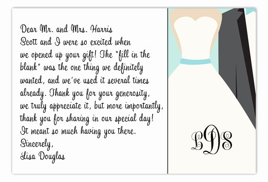 Personal Thank You Notes Sample Awesome Etiquette Tidbit Wedding Thank You Notes